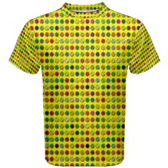 Multi Col Pills Pattern Men s Cotton Tees