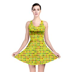 Multi Col Pills Pattern Reversible Skater Dresses