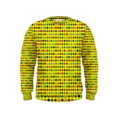 Multi Col Pills Pattern Boys  Sweatshirts