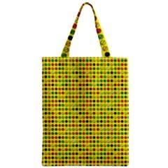 Multi Col Pills Pattern Zipper Classic Tote Bags
