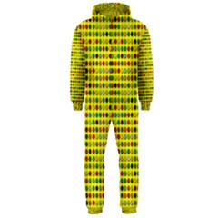 Multi Col Pills Pattern Hooded Jumpsuit (men)