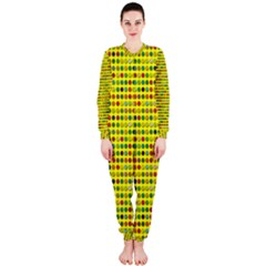 Multi Col Pills Pattern OnePiece Jumpsuit (Ladies)