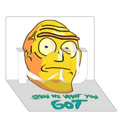 Show Me What You Got New Fresh I Love You 3d Greeting Card (7x5)
