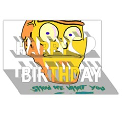 Show Me What You Got New Fresh Happy Birthday 3d Greeting Card (8x4)