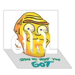 Show Me What You Got New Fresh Girl 3d Greeting Card (7x5)