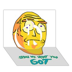 Show Me What You Got New Fresh Peace Sign 3D Greeting Card (7x5)