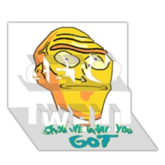 Show Me What You Got New Fresh Get Well 3d Greeting Card (7x5)