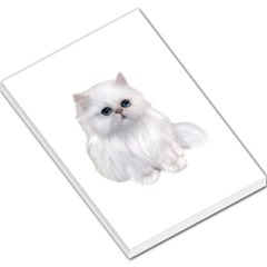 White Persian Cat Clipart Large Memo Pads