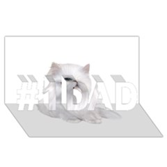White Persian Cat Clipart #1 DAD 3D Greeting Card (8x4)
