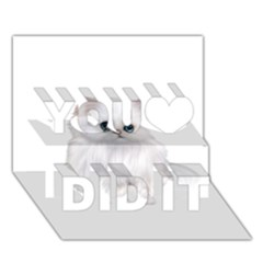 White Persian Cat Clipart You Did It 3d Greeting Card (7x5)