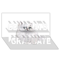 White Persian Cat Clipart Congrats Graduate 3d Greeting Card (8x4)