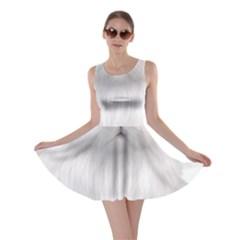 White Persian Cat Clipart Skater Dresses