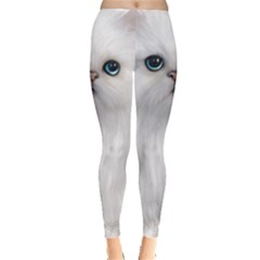 White Persian Cat Clipart Women s Leggings