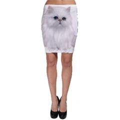 White Persian Cat Clipart Bodycon Skirts