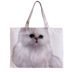 White Persian Cat Clipart Tiny Tote Bags