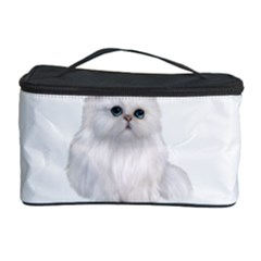 White Persian Cat Clipart Cosmetic Storage Cases