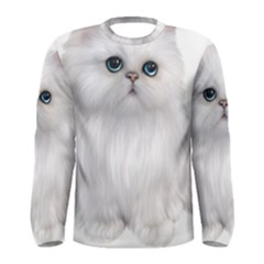 White Persian Cat Clipart Men s Long Sleeve T-shirts