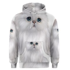 White Persian Cat Clipart Men s Pullover Hoodies