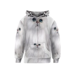 White Persian Cat Clipart Kids Zipper Hoodies