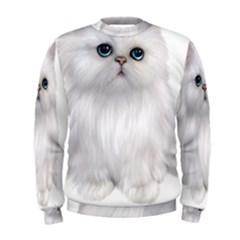 White Persian Cat Clipart Men s Sweatshirts
