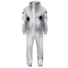 White Persian Cat Clipart Hooded Jumpsuit (Men)