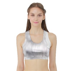 White Persian Cat Clipart Women s Sports Bra With Border