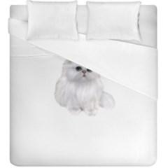 White Persian Cat Clipart Duvet Cover Single Side (kingsize)