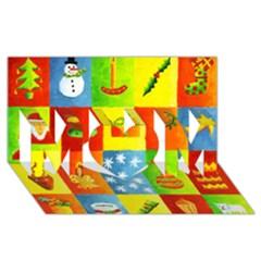 Christmas Things Mom 3d Greeting Card (8x4)