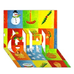 Christmas Things Girl 3d Greeting Card (7x5)