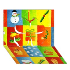 Christmas Things Clover 3D Greeting Card (7x5)