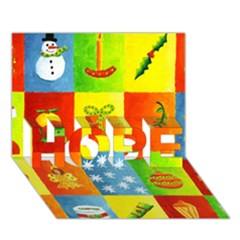 Christmas Things HOPE 3D Greeting Card (7x5)