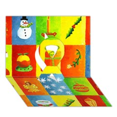 Christmas Things Ribbon 3D Greeting Card (7x5)