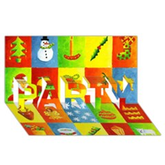 Christmas Things PARTY 3D Greeting Card (8x4)