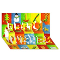Christmas Things Best Wish 3d Greeting Card (8x4)