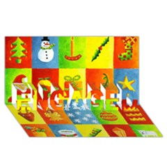 Christmas Things ENGAGED 3D Greeting Card (8x4)