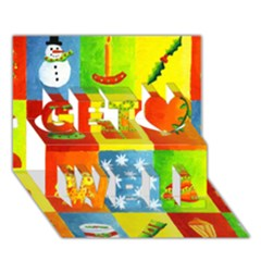 Christmas Things Get Well 3D Greeting Card (7x5)