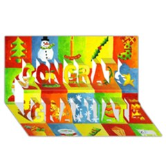 Christmas Things Congrats Graduate 3d Greeting Card (8x4)