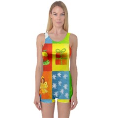 Christmas Things Women s Boyleg One Piece Swimsuits
