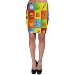 Christmas Things Bodycon Skirts