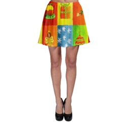 Christmas Things Skater Skirts