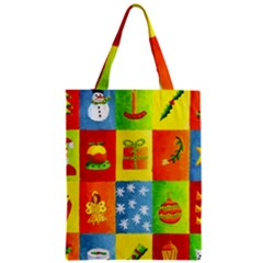 Christmas Things Zipper Classic Tote Bags