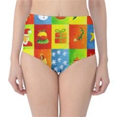 Christmas Things High Waist Bikini Bottoms