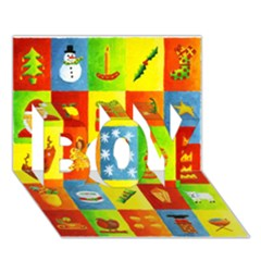 25 Xmas Things BOY 3D Greeting Card (7x5)