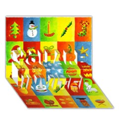25 Xmas Things YOU ARE INVITED 3D Greeting Card (7x5)