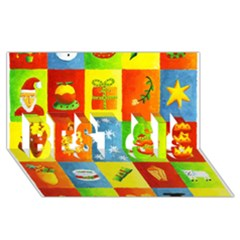 25 Xmas Things BEST SIS 3D Greeting Card (8x4)