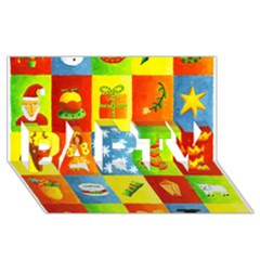 25 Xmas Things Party 3d Greeting Card (8x4)