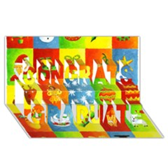 25 Xmas Things Congrats Graduate 3d Greeting Card (8x4)