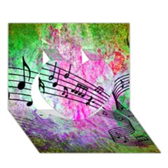 Abstract Music 2 Heart 3d Greeting Card (7x5)