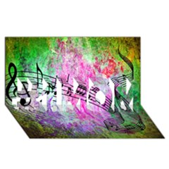 Abstract Music 2 #1 Mom 3d Greeting Cards (8x4)