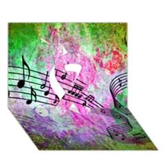Abstract Music 2 Ribbon 3D Greeting Card (7x5)